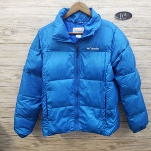 Columbia Bright Blue Puffer Jacket